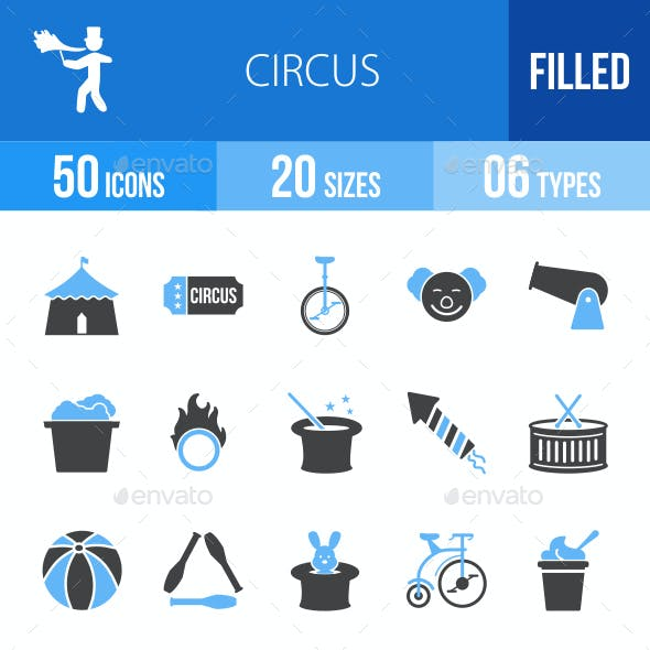 Circus Blue & Black Icons