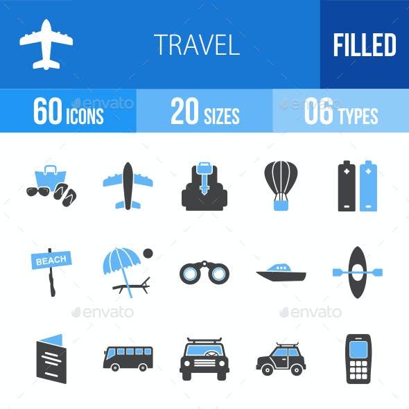 Travel Blue & Black Icons