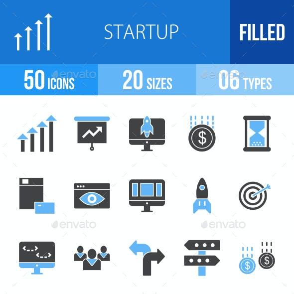 Startup Blue & Black Icons