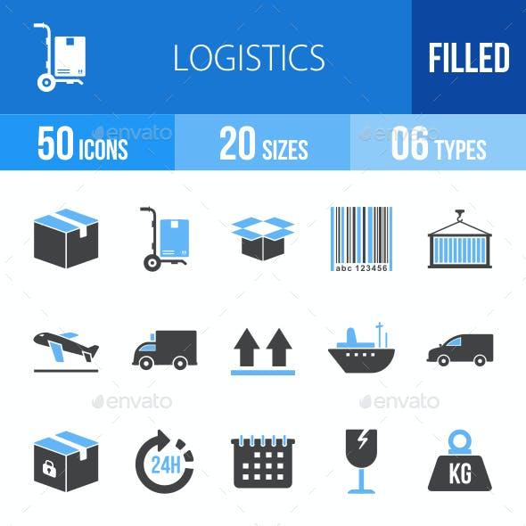 Logistics Blue & Black Icons