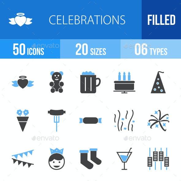 Celebrations Blue & Black Icons