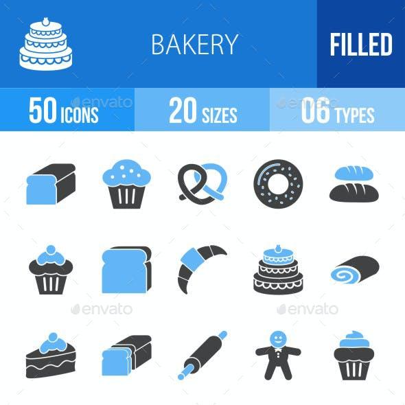 Bakery Blue & Black Icons