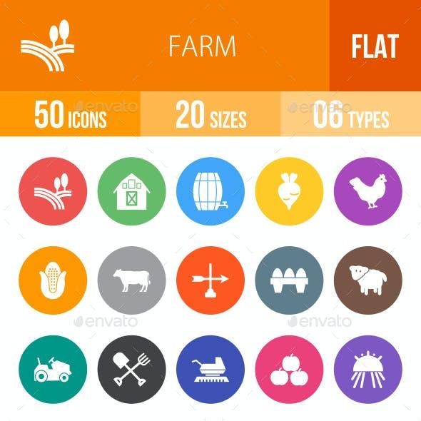 Farm Flat Round Icons