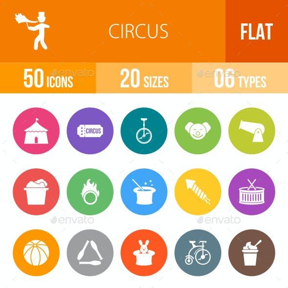 Circus Flat Round Icons
