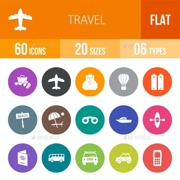 Travel Flat Round Icons