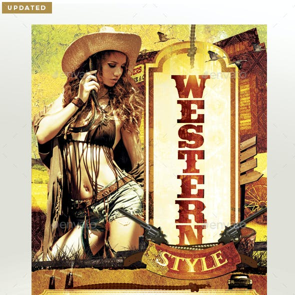 Western Style Flyer Template