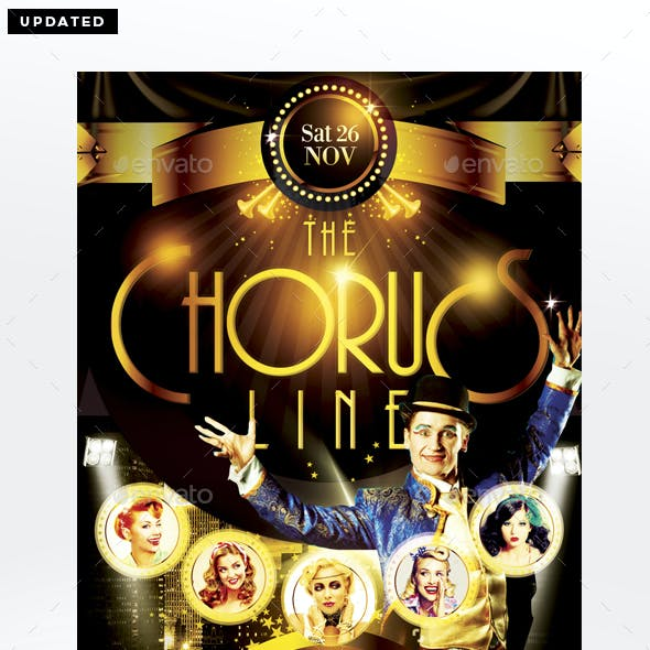The Chorus Line Flyer Template