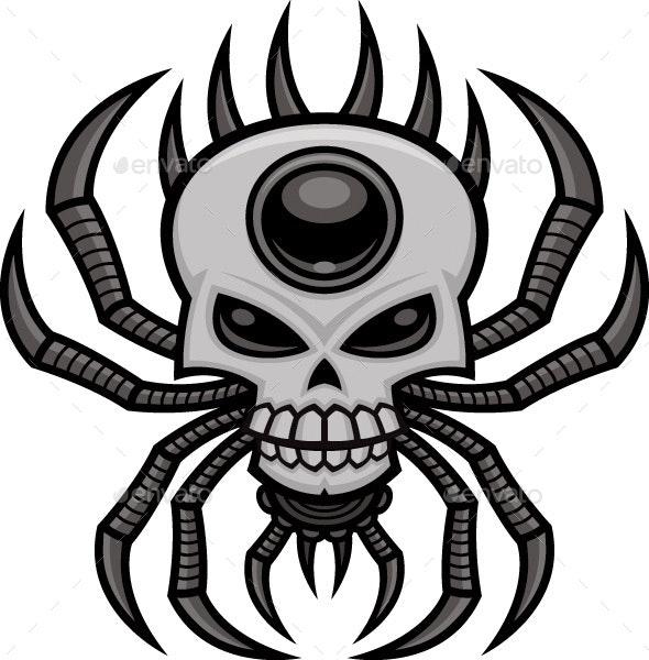 Skull Spider - Decorative Symbols Decorative