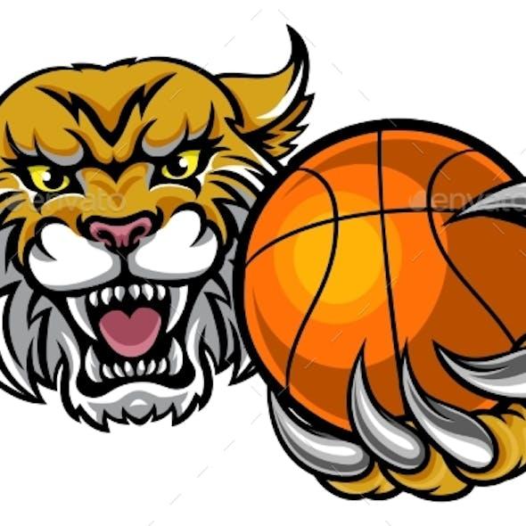 Wildcat Holding Basketball Mascot