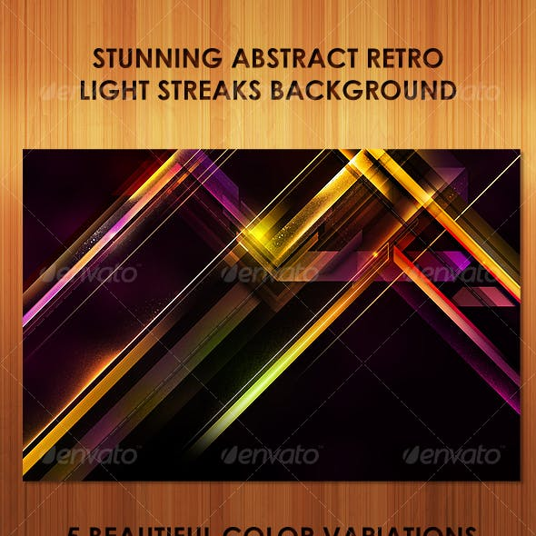 Stunning Abstract Retro Light Streaks Background
