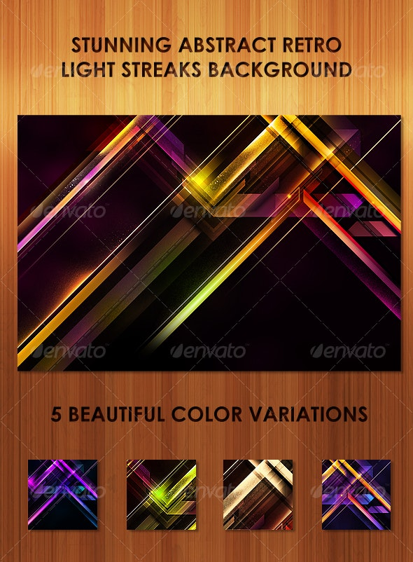 Stunning Abstract Retro Light Streaks Background  - Abstract Backgrounds