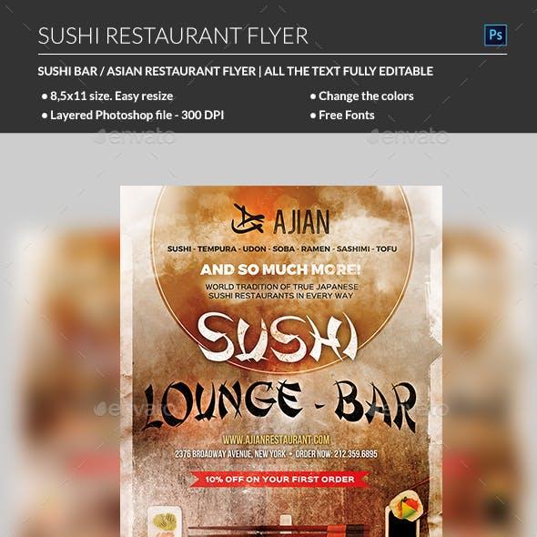 Japanese Sushi Flyer