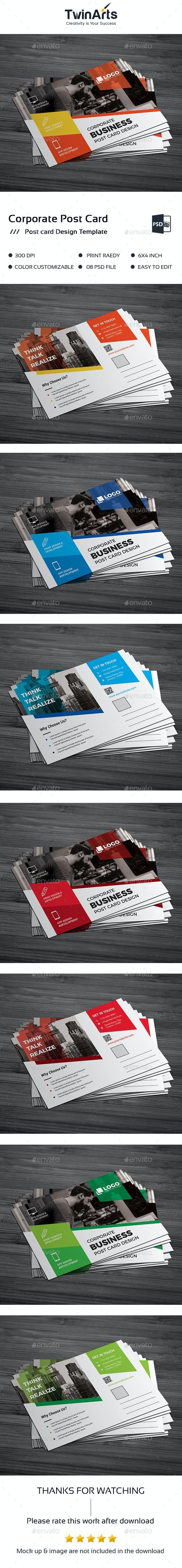 Corporate Post Card Design - Cards & Invites Print Templates