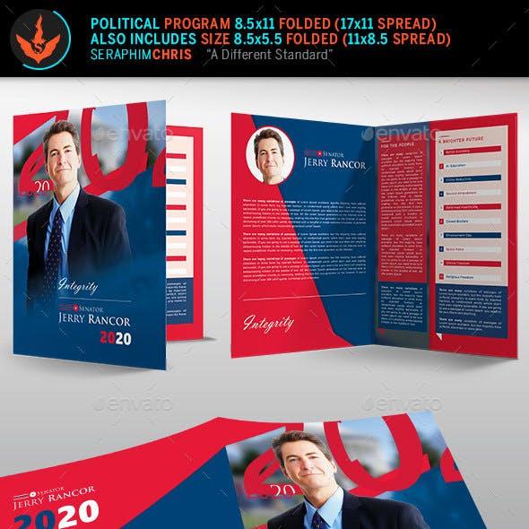 Political Election Brochure Template
