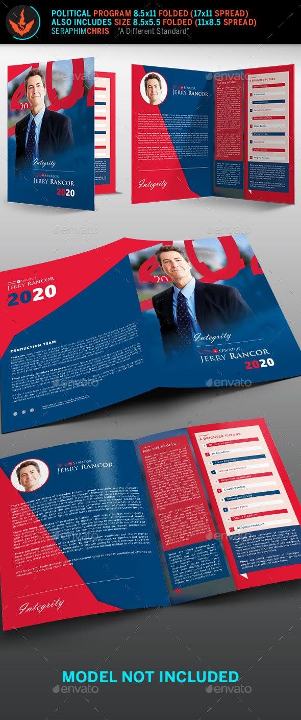 Political Election Brochure Template - Corporate Brochures