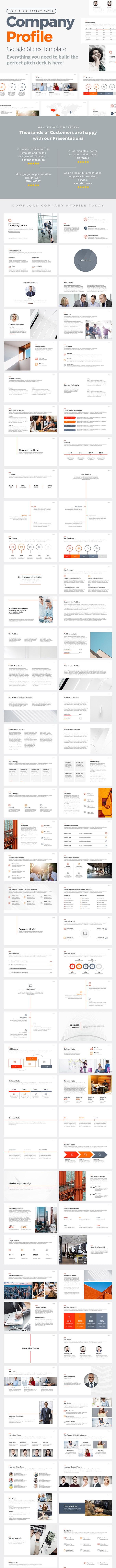 Company Profile Google Slides Template - Google Slides Presentation Templates