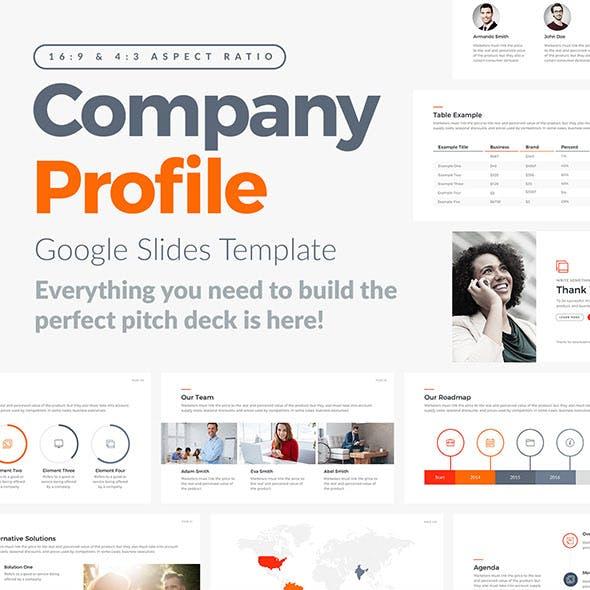 Company Profile Google Slides Template