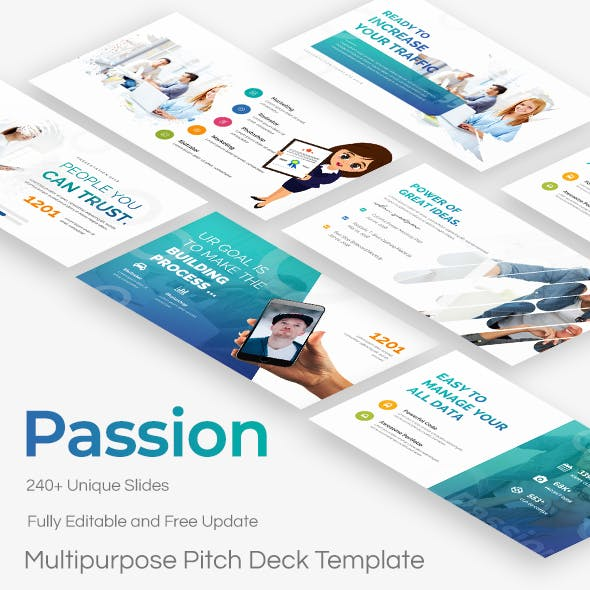 Passion Multipurpose Pitch Deck Powerpoint Template