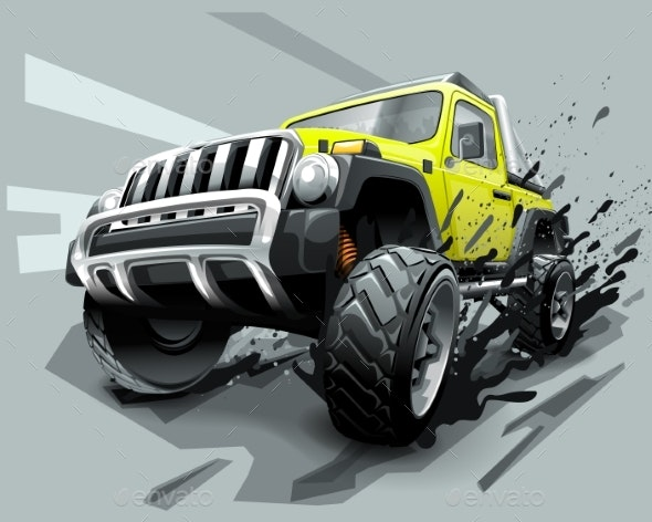 Extreme Off Road Vehicle SUV. - Miscellaneous Vectors