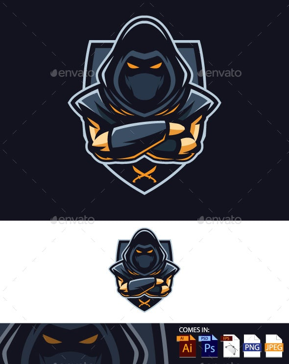 Assassin Badge Vector - People Characters