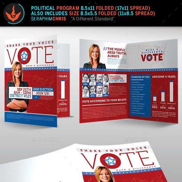 Vote Political Election Brochure Template