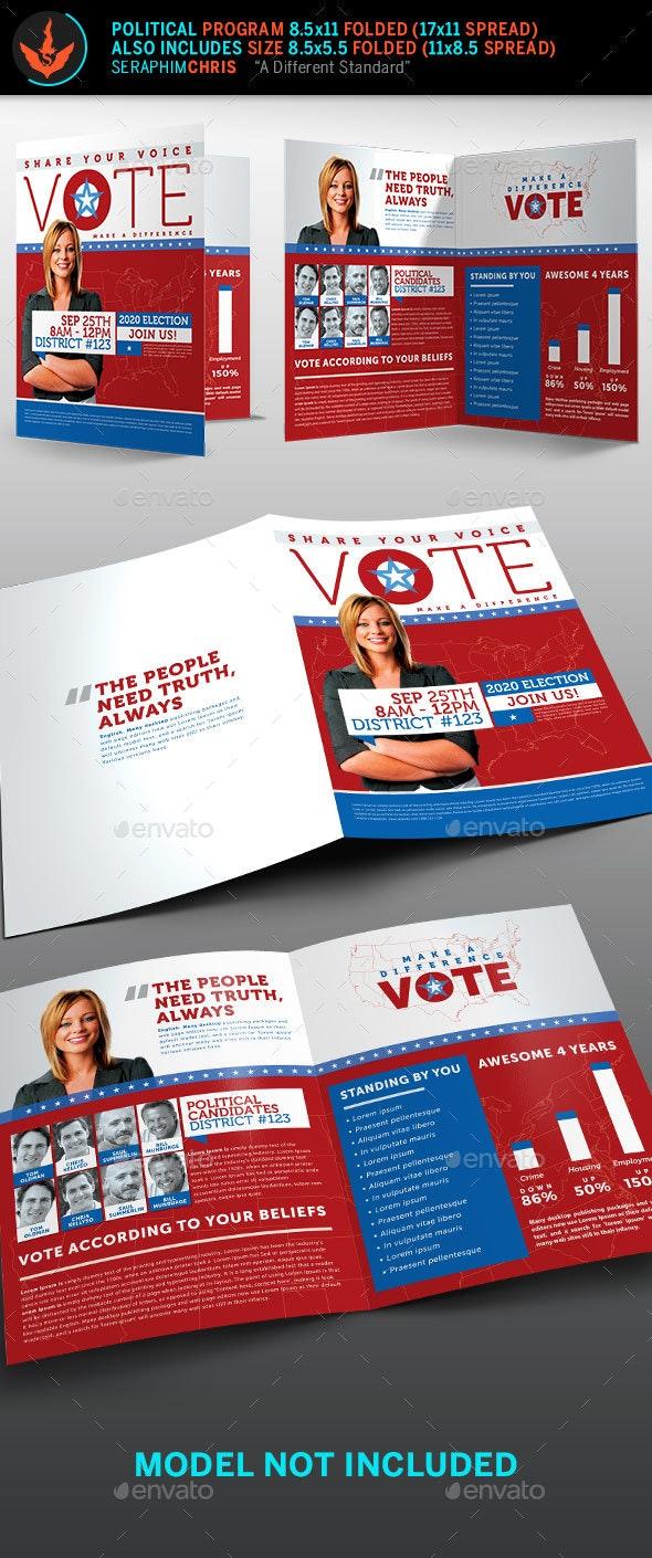 Vote Political Election Brochure Template - Corporate Brochures