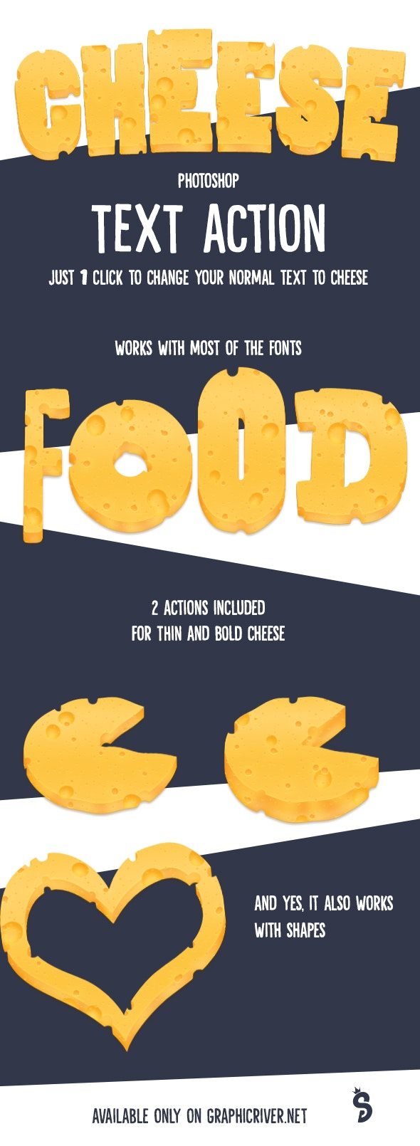 Cheese Text - Photoshop Action - Text Effects Actions