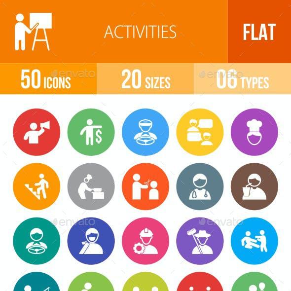 Activities Flat Round Icons