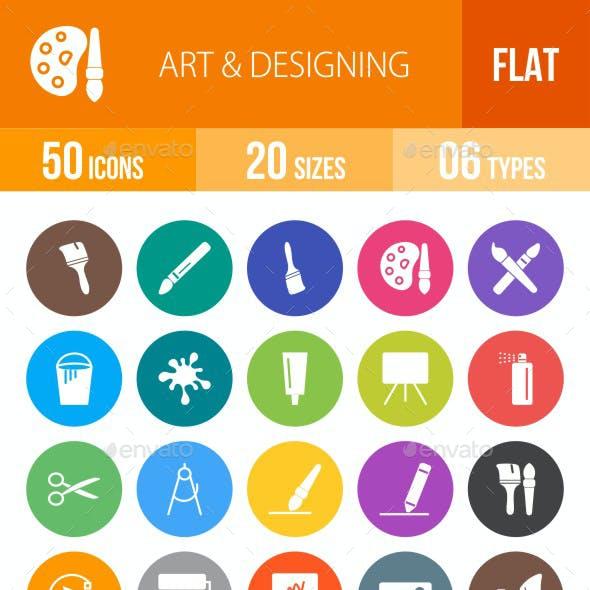Art & Designing Flat Round Icons
