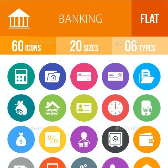 Banking Flat Round Icons