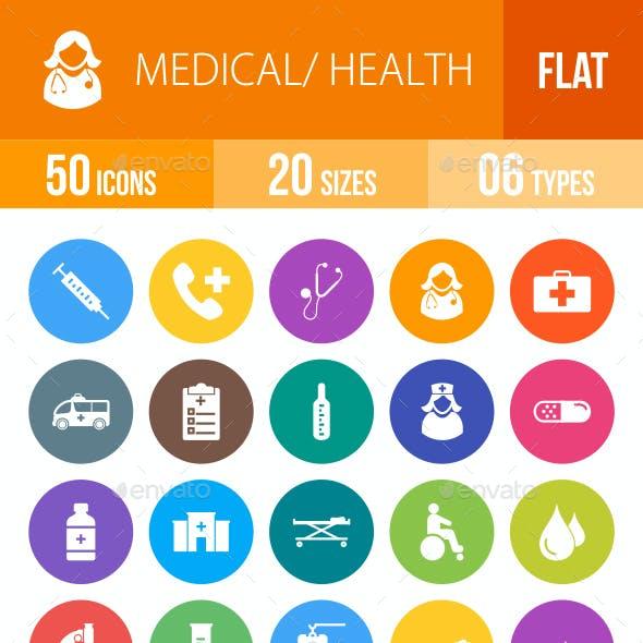 Medical Flat Round Icons