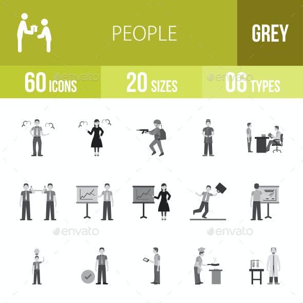 People Greyscale Icons