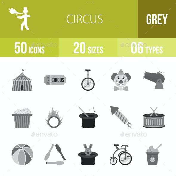 Circus Greyscale Icons