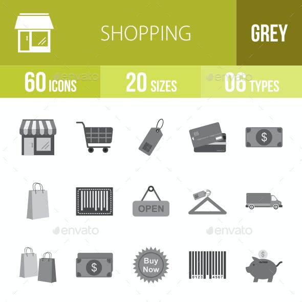 Shopping Flat Round Icons