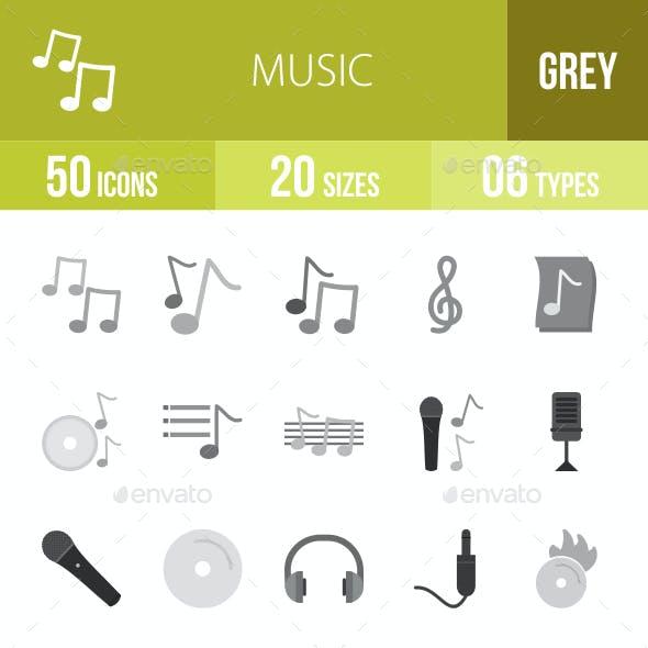 Music Flat Round Icons