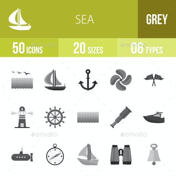 Sea Flat Round Icons