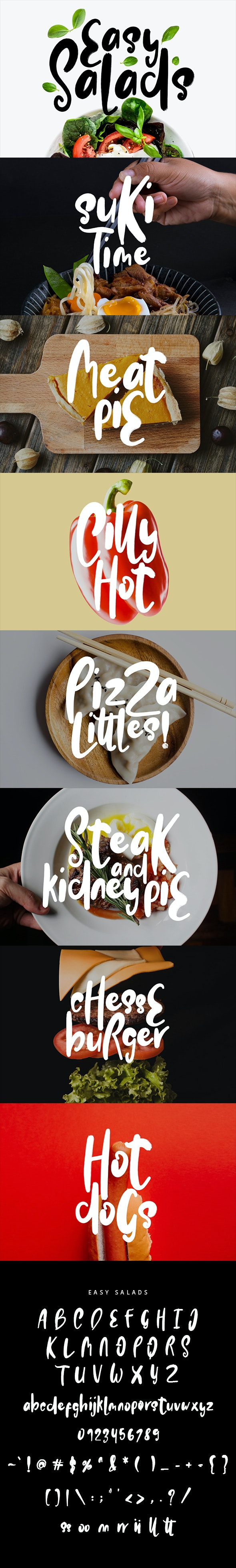 Easy Salads Typeface - Cool Fonts