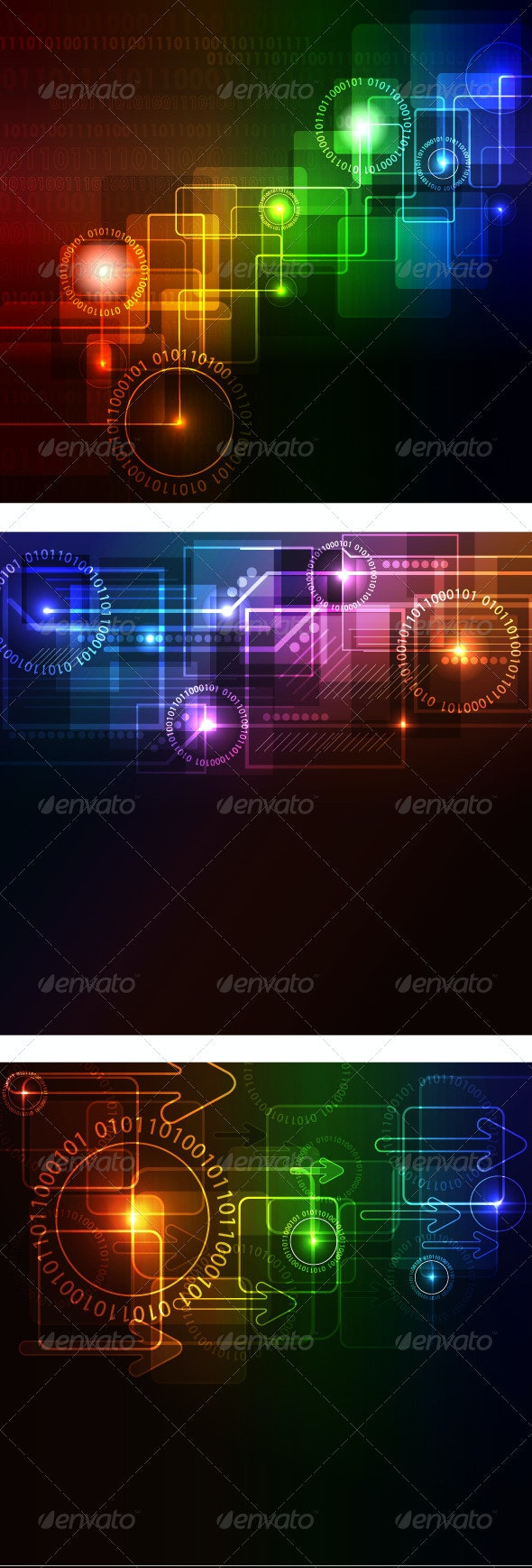 Hi-tech abstract background - Backgrounds Decorative