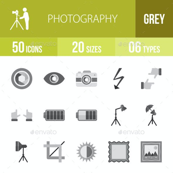 Photography Flat Round Icons