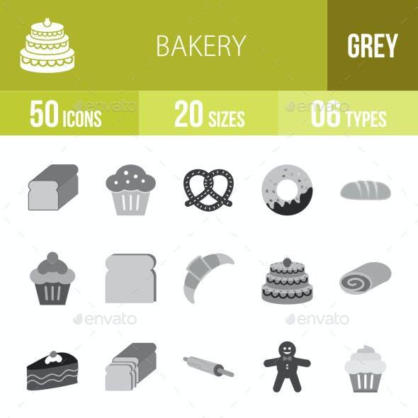 Bakery Flat Round Icons