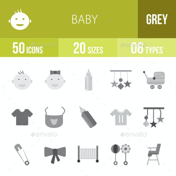 Baby Flat Round Icons