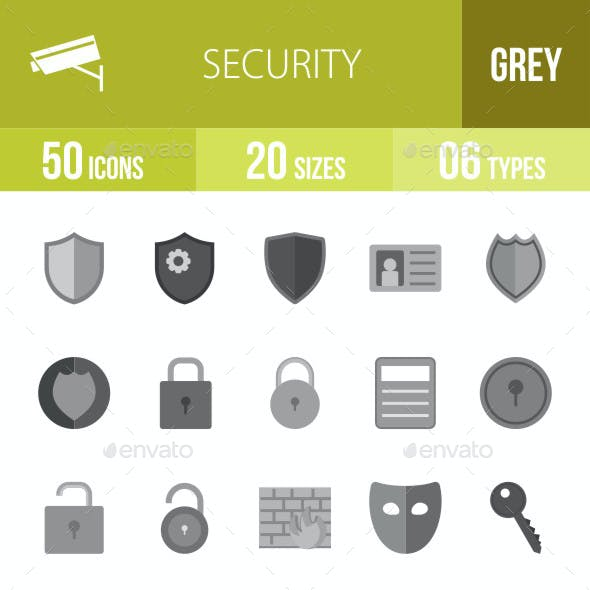 Security Flat Round Icons