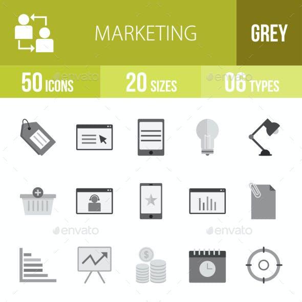 Marketing Flat Round Icons