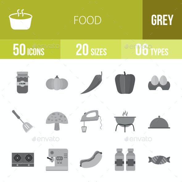 Food Flat Round Icons
