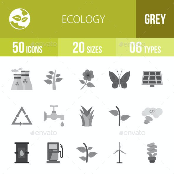 Ecology Flat Round Icons