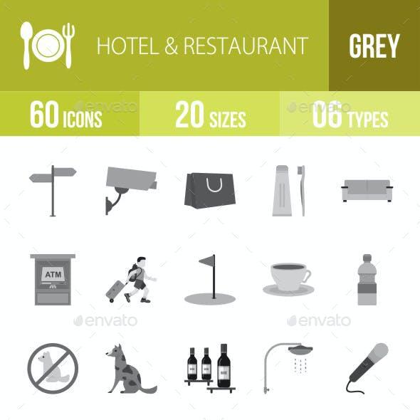 Hotel & Restaurant Flat Round Icons