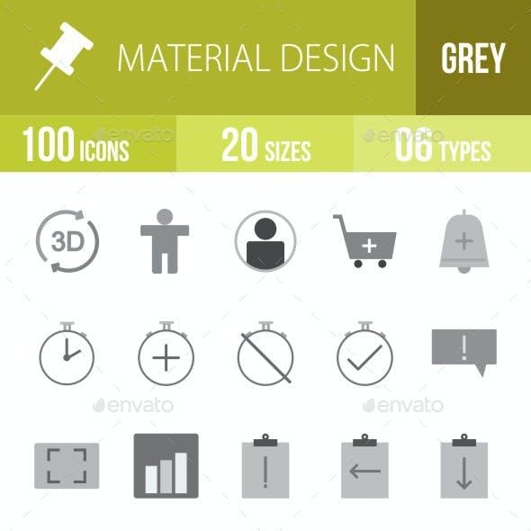 Material Design Flat Round Icons