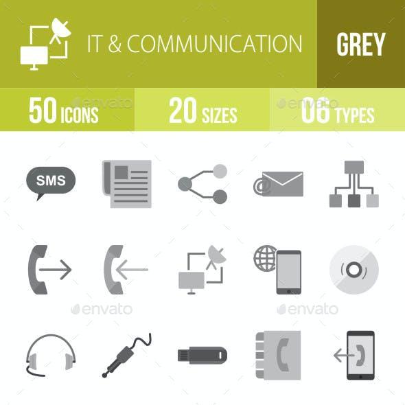 IT & Communication Flat Round Icons