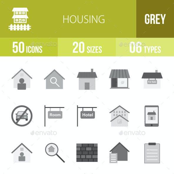 Housing Flat Round Icons