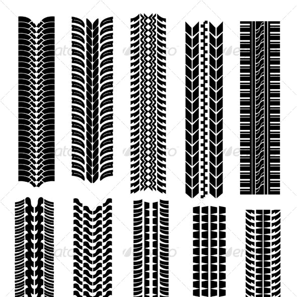 Set of tire shapes